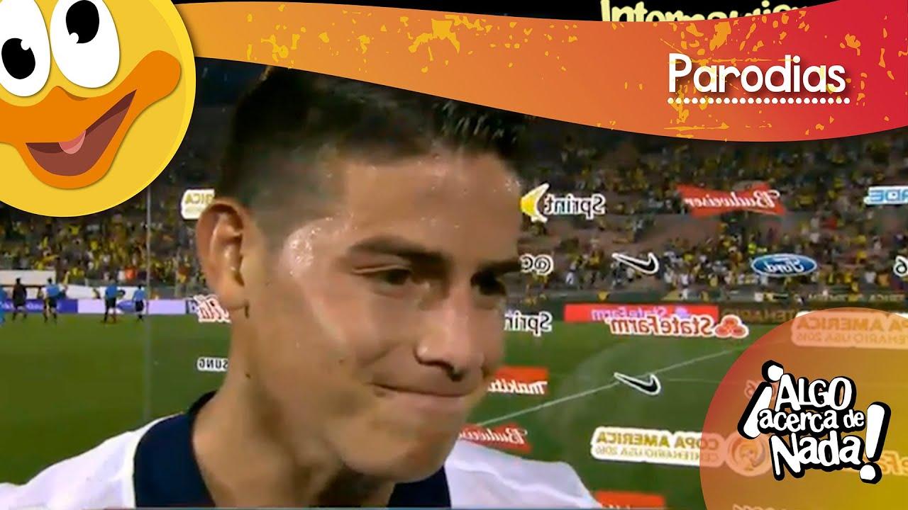 Entrevista JAMES RODRIGUEZ tras juego con Paraguay. Internautismo
