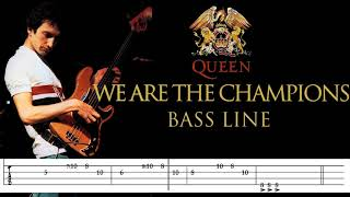 Queen - We Are The Champions (Bass Line Tabs) By John Deacon