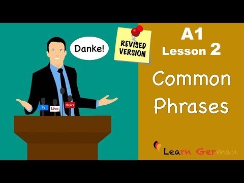 A1 - Lesson 2 | Common Phrases | German For Beginners | Learn German