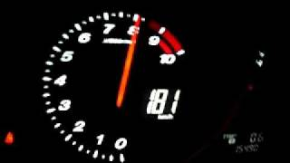 My RX-8  0 - 200 kph in 28 sec. on 1km! (stock,manual,231HP)