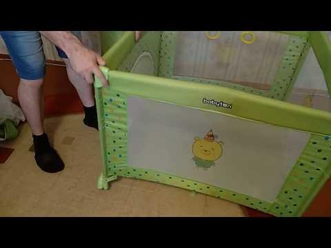 Как собрать манеж бебетон видео