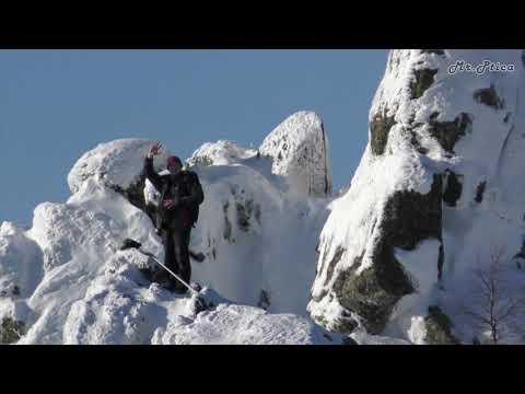 гора Качканар южная вершина с высоты птичьего полёта (зима)