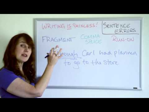 Writing is Painless 2: Sentence Errors