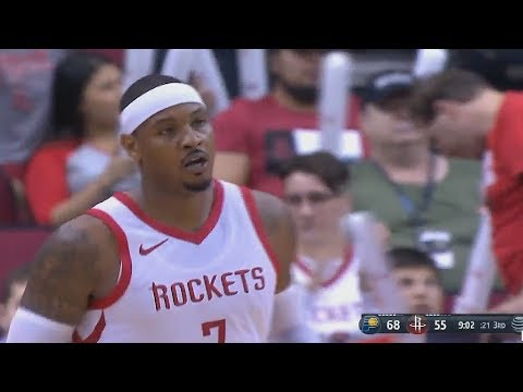 Carmelo Anthony Takes Over and Brings The Rockets Crowd To Their Feet! Rockets vs Pacers