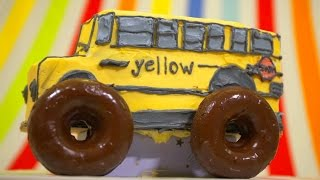 Monster Truck School Bus Cake - Celebrating 100K Subscribers - Featuring LovelyLadyCakes
