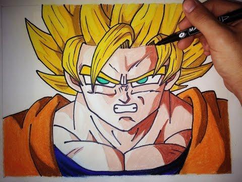 Como dibujar a Goku SSJ paso a paso | How to draw goku SSJ (English Subtitles CC)