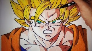 Como dibujar a Goku SSJ paso a paso | How to draw goku SSJ (English Subtitles CC)