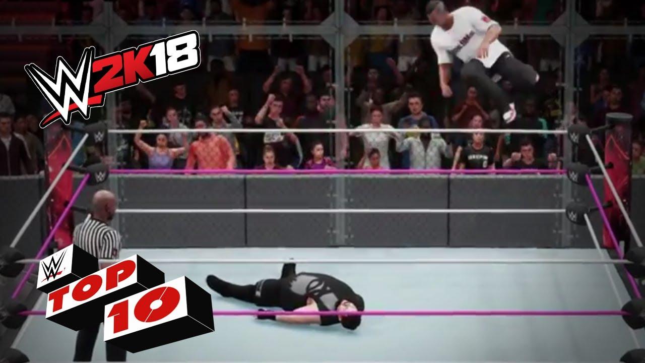 Crazy high-flying maneuvers!: WWE 2K18 Top 10