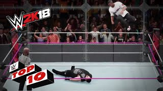 Crazy high flying maneuvers!: WWE 2K18 Top 10