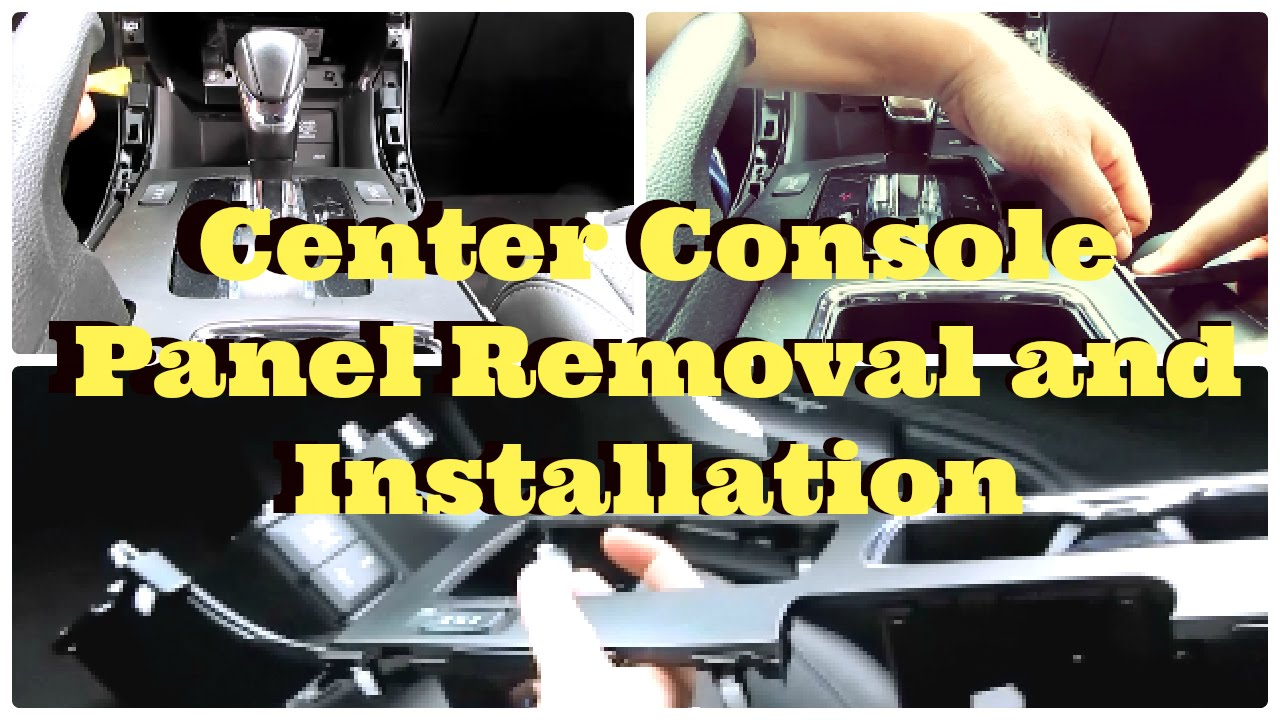 Tutorial Honda Accord Center Console Panel Removal And