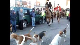 South Notts Hunt Visiting Newark-On-Trent