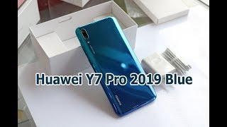 Unboxing Huawei Y7 Pro 2019 Aurora Blue color