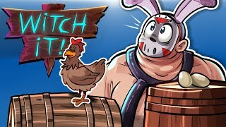 WITCH IT - THOUGHT I WAS PLAYING FORTNITE! (Fun Prop Hunt Game!)