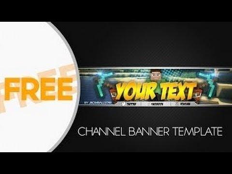 Speedart] Free Hd Minecraft Youtube Channel Banner Template +