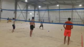 Тренировка по пляжному волейболу в ПЕСКЕ