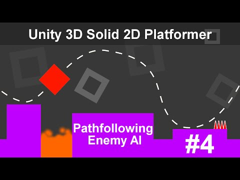 Unity 3D Solid 2D Platformer - Pathfollowing Enemy AI