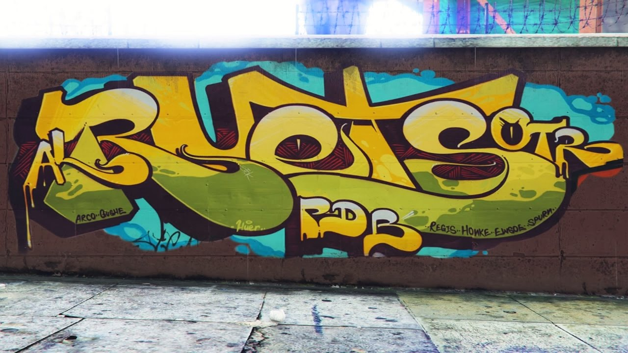 Gta v online los angeles graffiti
