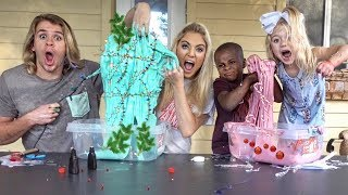 ULTIMATE CHRISTMAS SLIME CONTEST! 4 YEAR OLDS VS ADULTS!!!