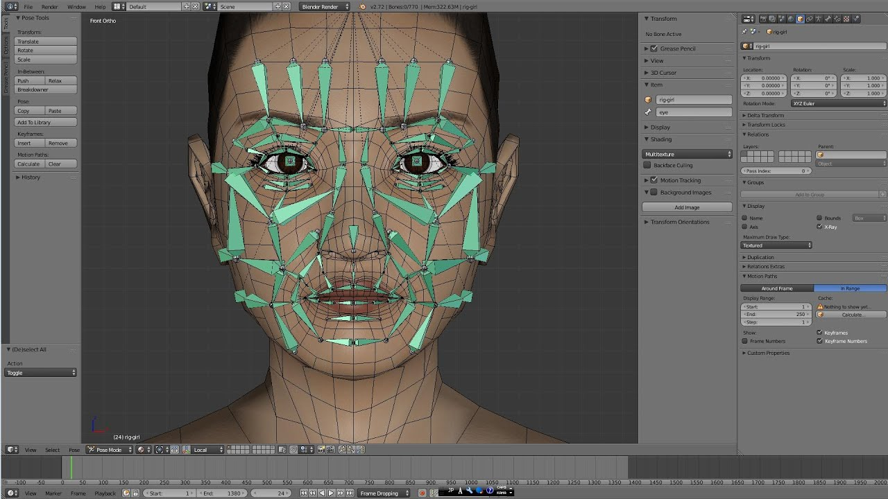 Blender Facial Rigging 31