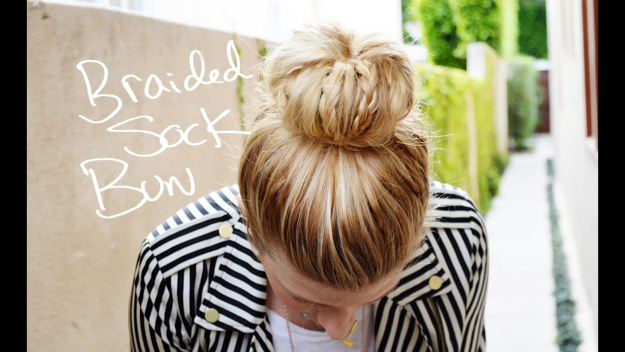 DIY Braided Sock Bun With Mr Kate YouTube