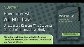 Have Interest, Will NOT Travel: Unexpected Reasons Why Students Opt Out of International Study