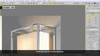 3ds max Моделирование настенного светильника