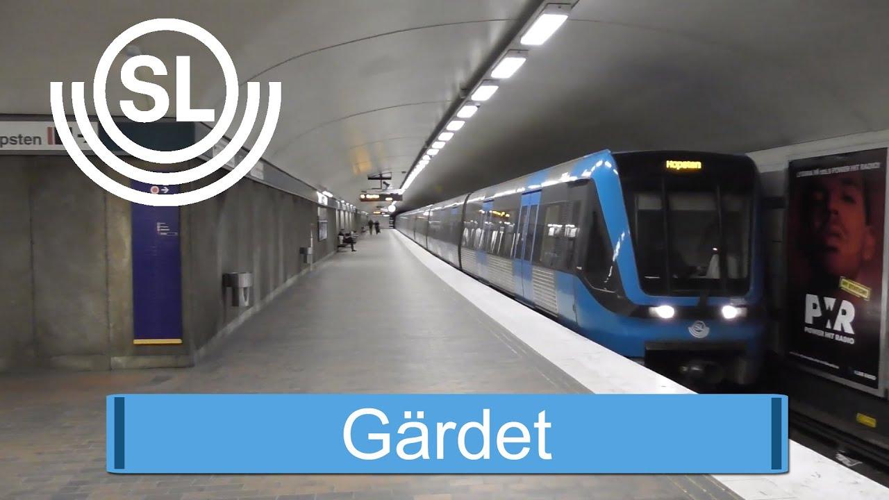 Tunnelbanestationen Gärdet i Stockholm
