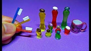 Làm PHỤ KIỆN: Bàn Chải Đánh Răng và Chai Sữa Tắm Mini cho Búpbê - Chị Cánh Tiên | SimpleCrafts & DIY