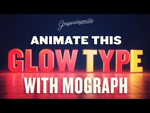 Cinema 4D Tutorial - How To Animate A Logo Type with Mograph