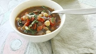 Easy Chickpea Tomato Soup Recipe