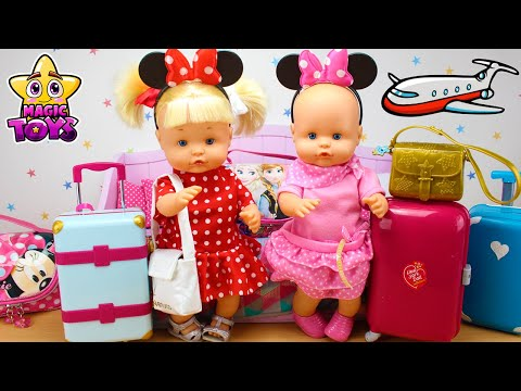 Preparo las MALETAS de las Bebés Nenuco HERMANITAS TRAVIESAS para ir de VIAJE a DISNEY