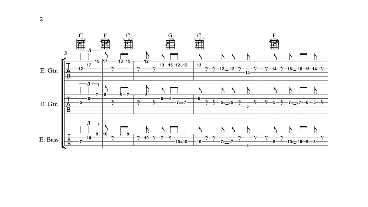 Super Mario Bros. (NES) - Overworld Theme (Main) - Guitar/Bass Tabs ...