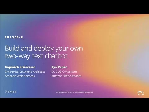 SMS Chatbot with Amazon Pinpoint, Amazon Lex, and AWS Lambda