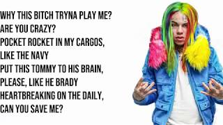 "6ix9ine - ""WAKA"" Ft A Boogie Wit Da Hoodie (Lyrics)"