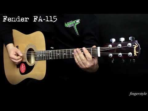Fender FA-115 acoustic guitar :: Demo, Soundcheck
