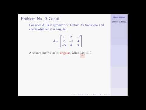 Matrix Algebra : Illustrated Examples