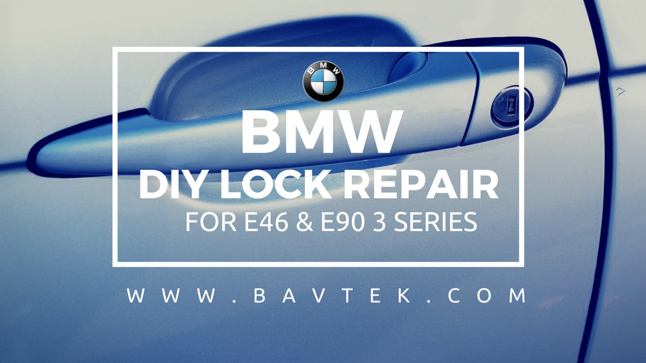 E46 E90 Door Lock Repair Kit DIY Tutorial