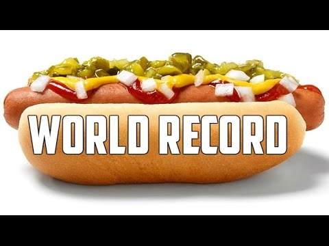 Fastest Time To Eat A Hot Dog With No Hands (Guinness World Records)