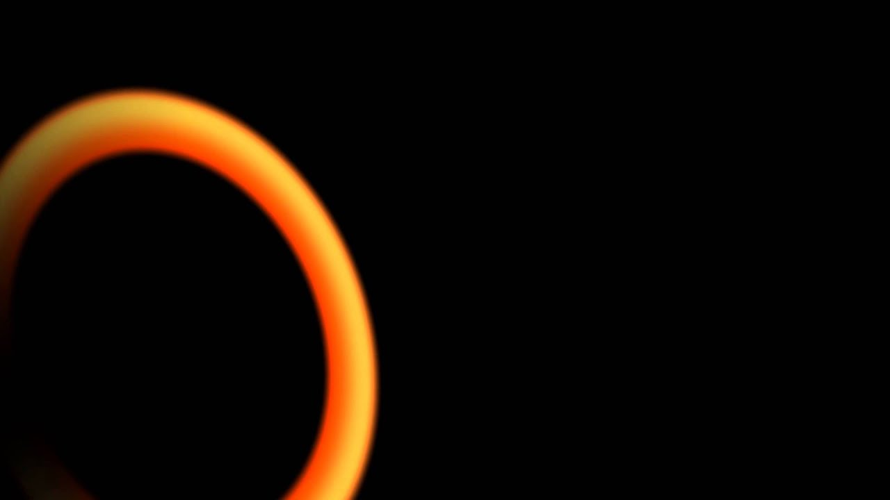 disc orange lens flare black background 26 animation free