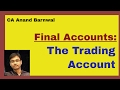 Final Accounts: The Trading Account {Hindi}