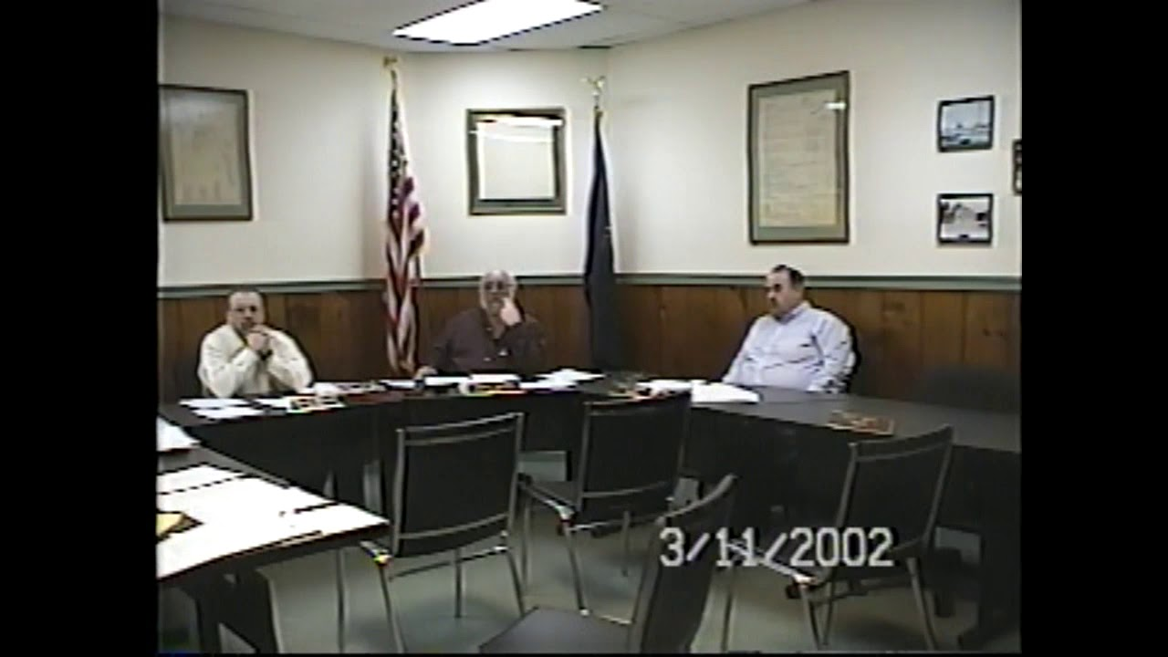Champlain Village Board Meeting  3-11-02