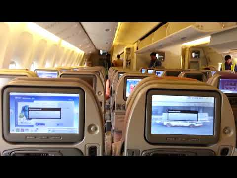 Party music in Emirates Plane