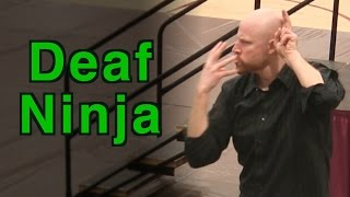 Awti performs an improv version of Deaf Ninja… with MONSTERS! Check...