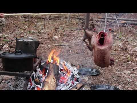 Sikipwân (Northern Coastal East Cree) open fire roasted goose