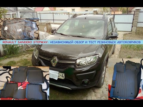 Рено Сандеро Степвей/Renault Sandero Stepway: тест/обзор салонных ковриков