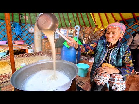 Mongolian Food - AMAZING Survival Food In Mongolia + MILKING COWS!! NOMADIC Mongolian Cuisine