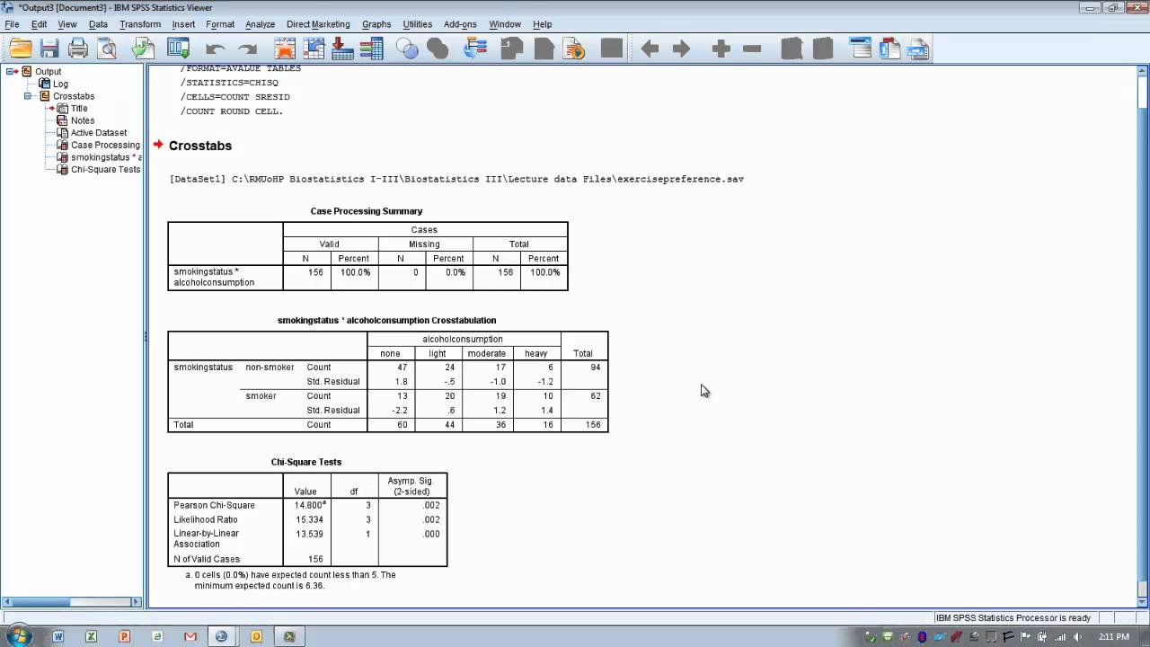 How To Read Chi Square Table Spss Image Collections Bar