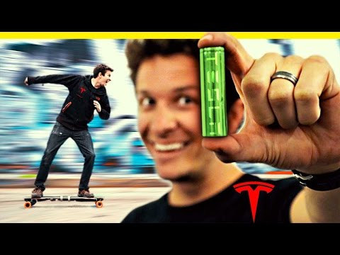 Tesla Batteries in an Electric Skateboard!