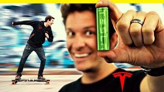 Tesla Batteries in an Electric Skateboard! thumbnail