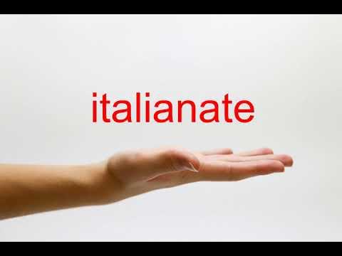 How to Pronounce italianate - American English